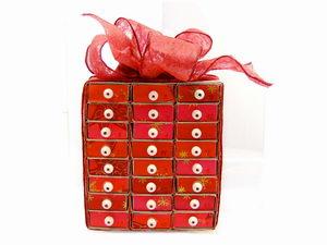 adventní kalendář z krabiček od sirek, výroba