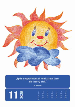 Kalendář sluníčka 2020, Úsměv pro každého, Pleva