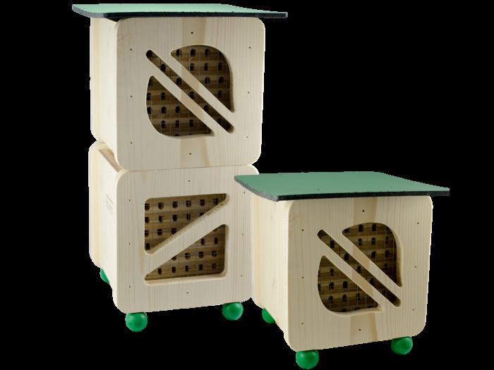 Hmyzí hotely pro včely samotářky, Pleva