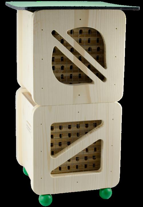 Hmyzí hotel pro včelky samotářky Cube Line dvoupatrový