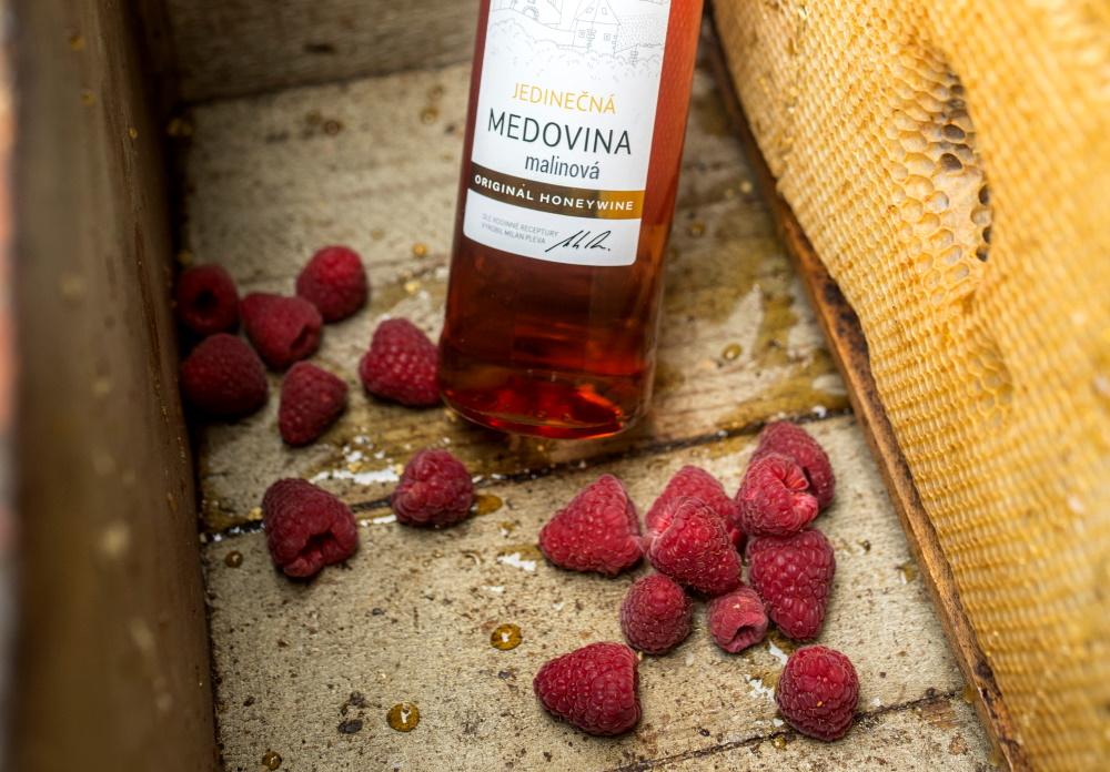 Sladce malinová medovina, limitovaná edice, Pleva
