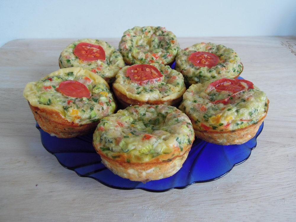 vaječné muffiny se zeleninou