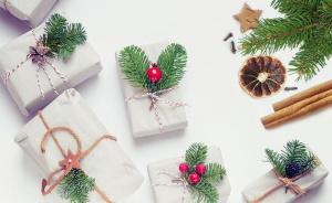 ekologické balení dárků, přírodní vánoční dekorace
