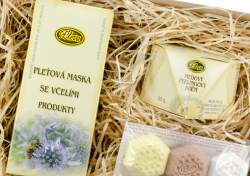 dárková sada Rozmazlovací sada, Pleťová maska se včelími produkty, medový peeling