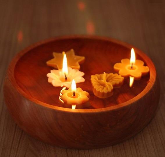 Vánoční plovoucí svíčky ze včelího vosku, Pleva