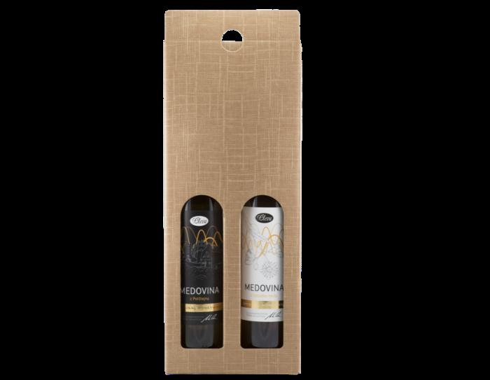 Dárková krabice na dvě medoviny