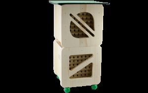 Hmyzí hotel Cube Line dvoupatrový, Pleva