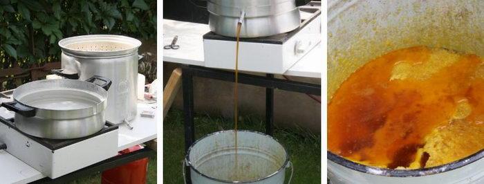 tavení včelího vosku