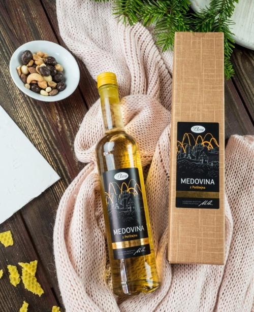 Dárková krabice na medovinu, medovina v dárkovém balení, medovina pleva