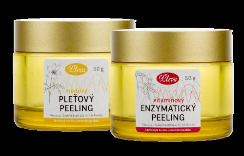 Medový pleťový peeling, Pleva