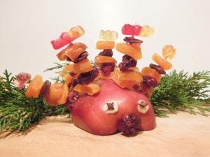Vánoční tvoření, vánoční ježek, pleva