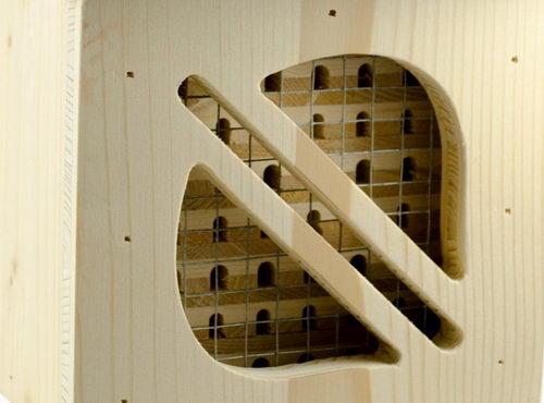 Hmyzí hotel pro včelky samotářky Cube Line, detail