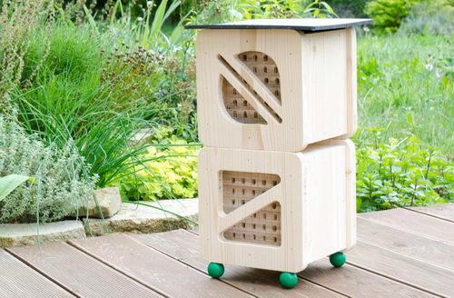 Hmyzí hotel pro včelky samotářky Cube Line, dvojitý