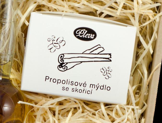 dárková kazeta, propolisové mýdlo se skořicí, Pleva