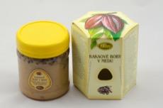 Kakaové boby v medu, pleva
