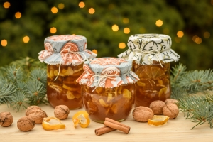 Vánoční dárek, vánoční zázvorový sirup s citronem a medem