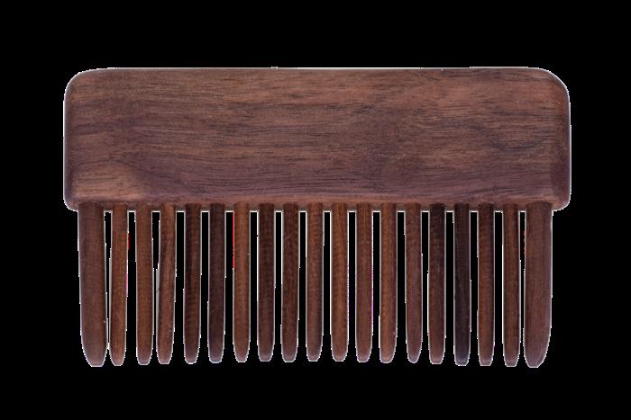 dřevěný hřeben krátký bez rukojeti