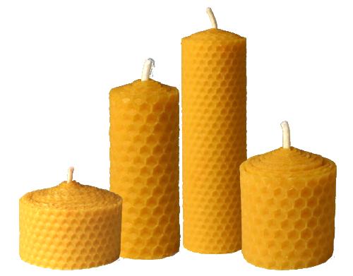 Svíčky stáčené z mezistěn